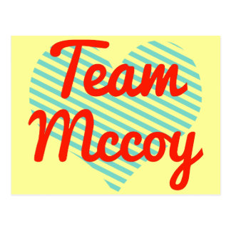Team Mccoy Postcards