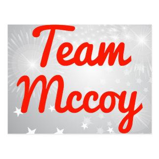 Team Mccoy Postcard