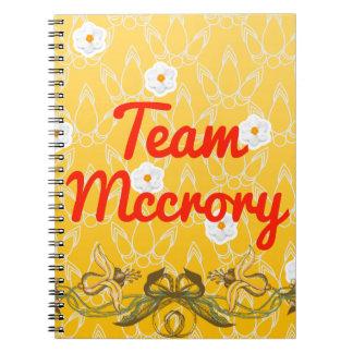 Team Mccrory Spiral Notebook