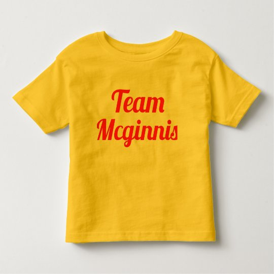 Team Mcginnis Toddler T-shirt