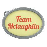 Team Mclaughlin Belt Buckles