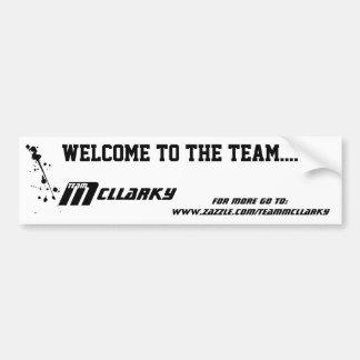 Team McLlarky Car Sticker Car Bumper Sticker