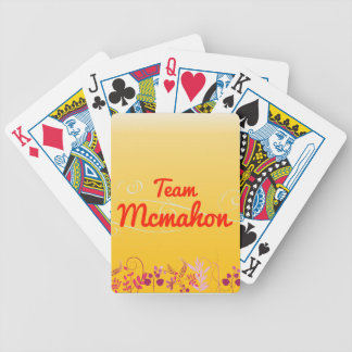 Team Mcmahon Bicycle Playing Cards