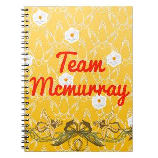 Team Mcmurray Spiral Notebook