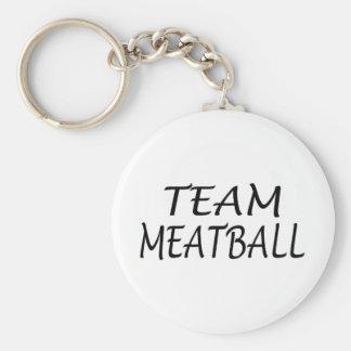 Team Meatball Basic Round Button Keychain