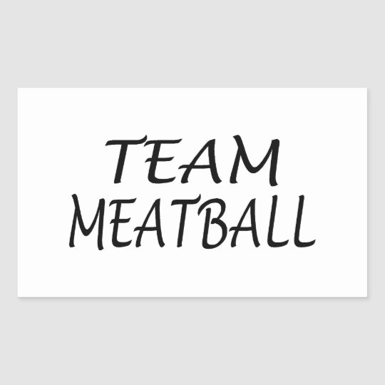 Team Meatball Rectangular Sticker