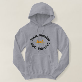 Team member volleyball player Kevin embroidered Embroidered Hoodie