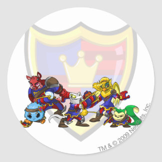 Team Meridell Group Classic Round Sticker