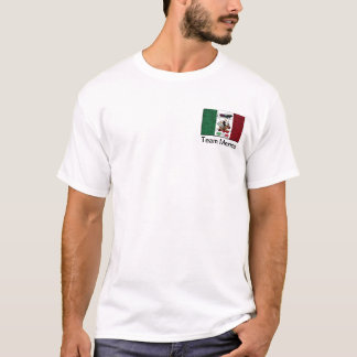 Team Mexico with Real Mexico Flag T-Shirt
