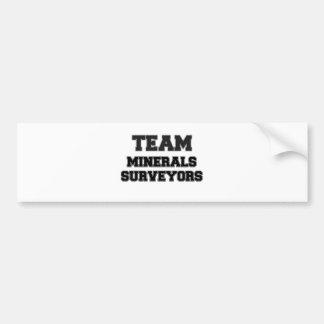 Team Minerals Surveyors Bumper Sticker