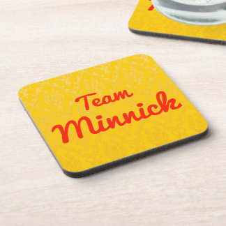 Team Minnick Drink Coaster