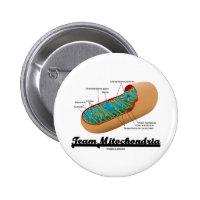 Team Mitochondria (Mitochondrion Humor) 2 Inch Round Button