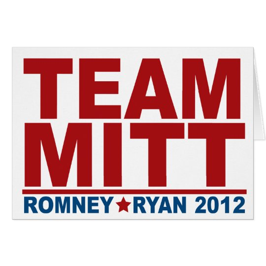 Team Mitt Romney Ryan 2012 Card