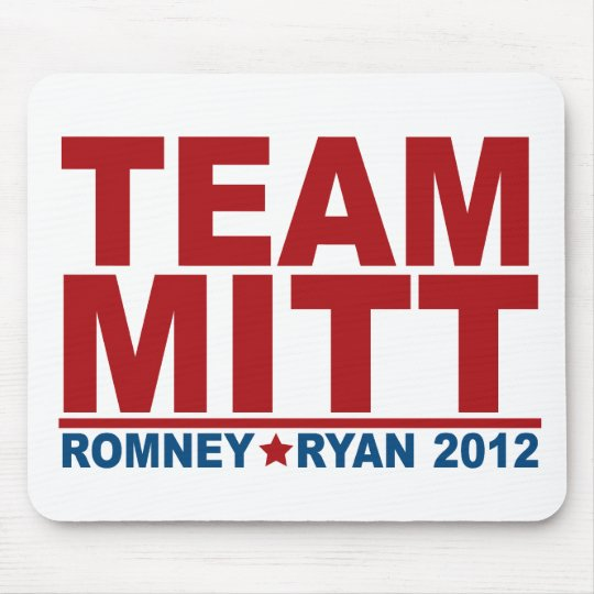 Team Mitt Romney Ryan 2012 Mouse Pad