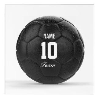 Team Modern Soccer Ball Personalized Acrylic Wall Art