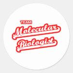Team Molecular Biologist Classic Round Sticker