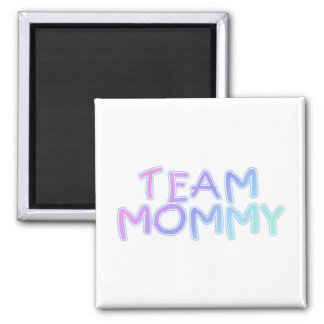 Team Mommy 2 Inch Square Magnet