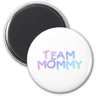 Team Mommy 2 Inch Round Magnet