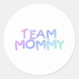 Team Mommy Round Stickers