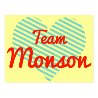 Team Monson Postcard