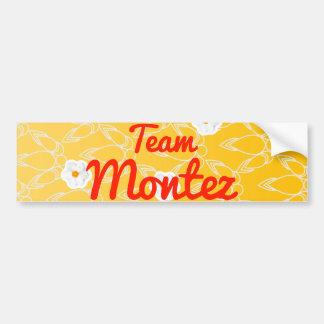 Team Montez Car Bumper Sticker