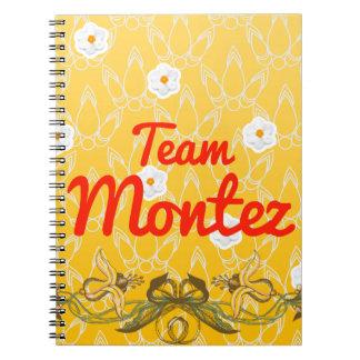 Team Montez Spiral Notebooks