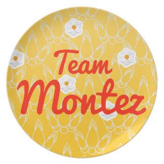 Team Montez Party Plate