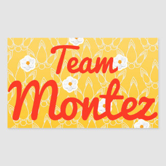 Team Montez Rectangular Stickers