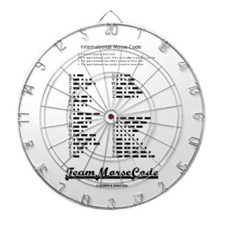 Team Morse Code (Communication Dots & Dashes) Dart Boards