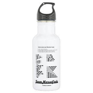 Team Morse Code (Communication Dots & Dashes) 18oz Water Bottle