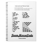 Team Morse Code (Communication Dots & Dashes) Spiral Note Book