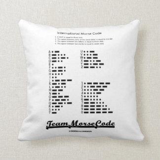 Team Morse Code (Communication Dots & Dashes) Throw Pillow