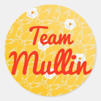 Team Mullin Round Stickers