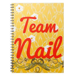 Team Nail Spiral Notebook