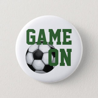 Team Name and Number Soccer Ball Button