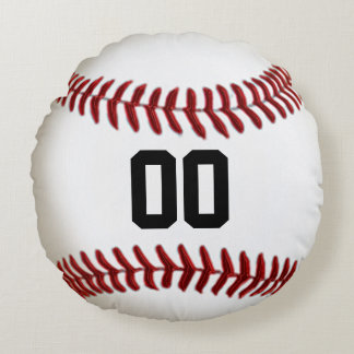 Team NAME or Your NAME, NUMBER Baseball Pillows