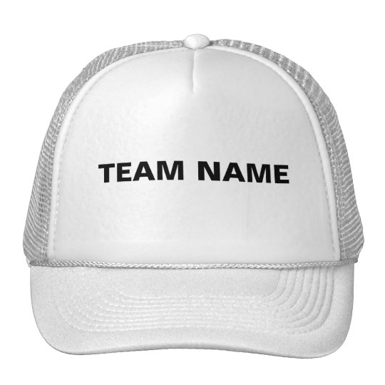TEAM NAME TRUCKER HAT