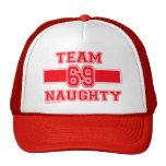 TEAM NAUGHTY Christmas Shirt Trucker Hat