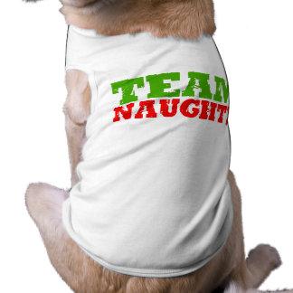 TEAM NAUGHTY -.png Dog T Shirt