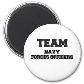 Team Navy Forces Officers Fridge Magnet