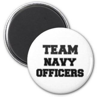 Team Navy Officers Fridge Magnet