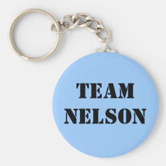 TEAM NELSON BASIC ROUND BUTTON KEYCHAIN