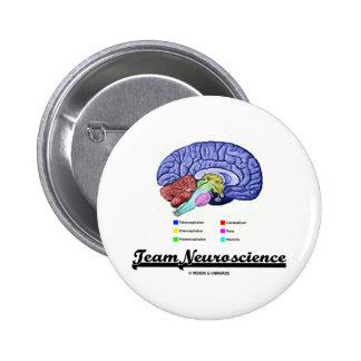 Team Neuroscience (Brain Anatomy Attitude) Pinback Button