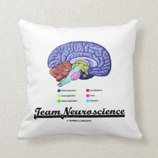 Team Neuroscience (Brain Anatomy Attitude) Throw Pillow