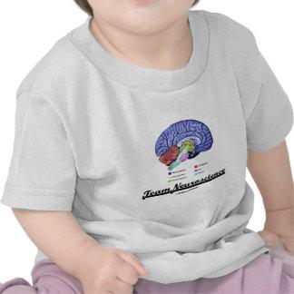 Team Neuroscience (Brain Anatomy Attitude) T-shirts