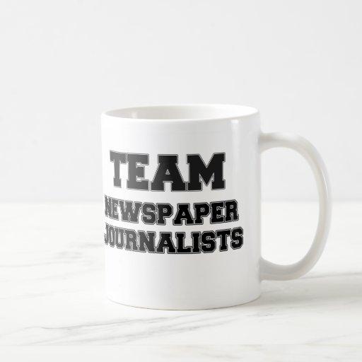 Team Newspaper Journalists Classic White Coffee Mug