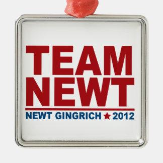 Team Newt Gingrich 2012 Metal Ornament