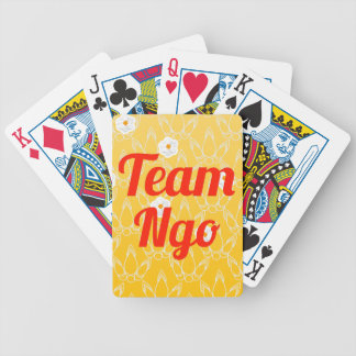 Team Ngo Bicycle Poker Cards