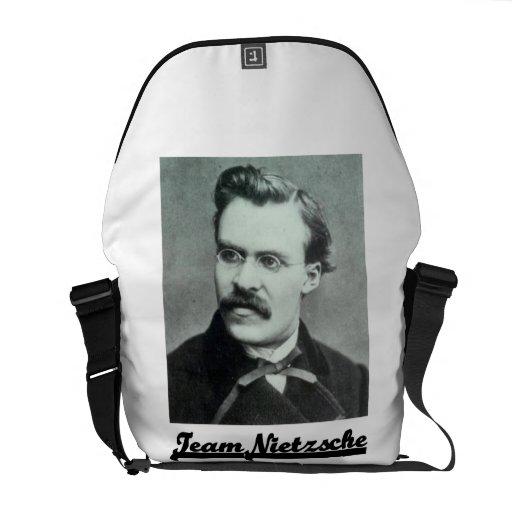 Team Nietzsche (Nietzsche Portrait) Messenger Bags