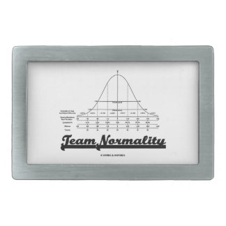 Team Normality Bell Curve Statistics Humor Belt Buckle
